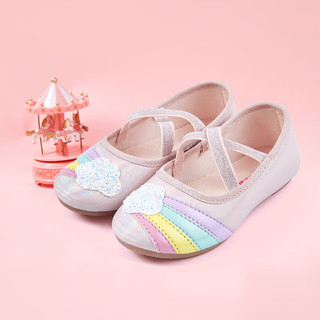 Deesha 笛莎 女童皮鞋2021春新款儿童透气轻便小单鞋公主鞋
