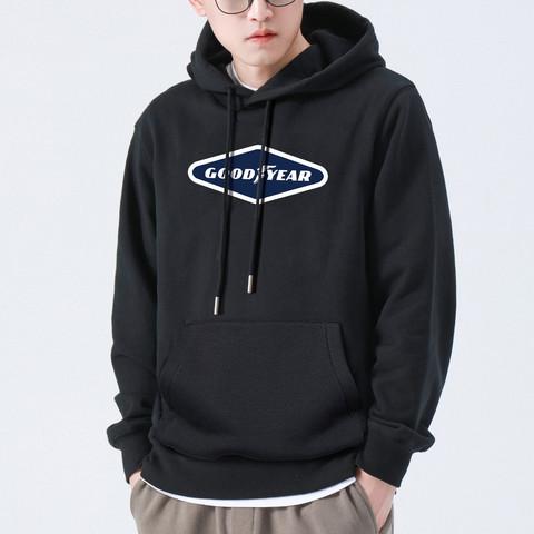 GOOD YEAR 固特异 潮流时尚韩版连帽男士上衣休闲个性印花卫衣