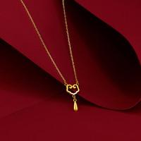 ZLF 周六福 0129-HJXL010 5G金黄金项链 约2.4g