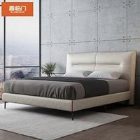 Sleemon 喜临门 韦斯卡 舒睡简约科技布床 1.5/1.8m(配双子座护脊床垫)