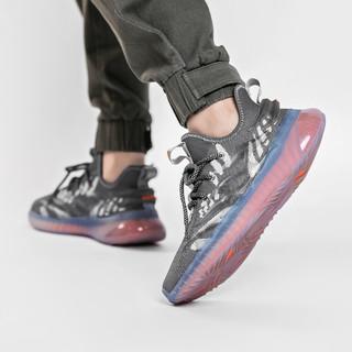 Semir 森马 2021新款时尚飞织男鞋夏季透气椰子鞋男士运动鞋