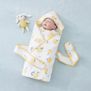 Wellber 威尔贝鲁 WELLBER)婴儿抱被新生儿包被包巾四季通用薄款防惊跳宝宝幼儿襁褓抱被睡袋小橘子80*80cm