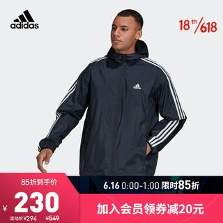 adidas Originals 阿迪达斯官网 adidas M WV WB 男装春秋训练运动夹克外套GQ0622 黑色 A/M(175/96A)