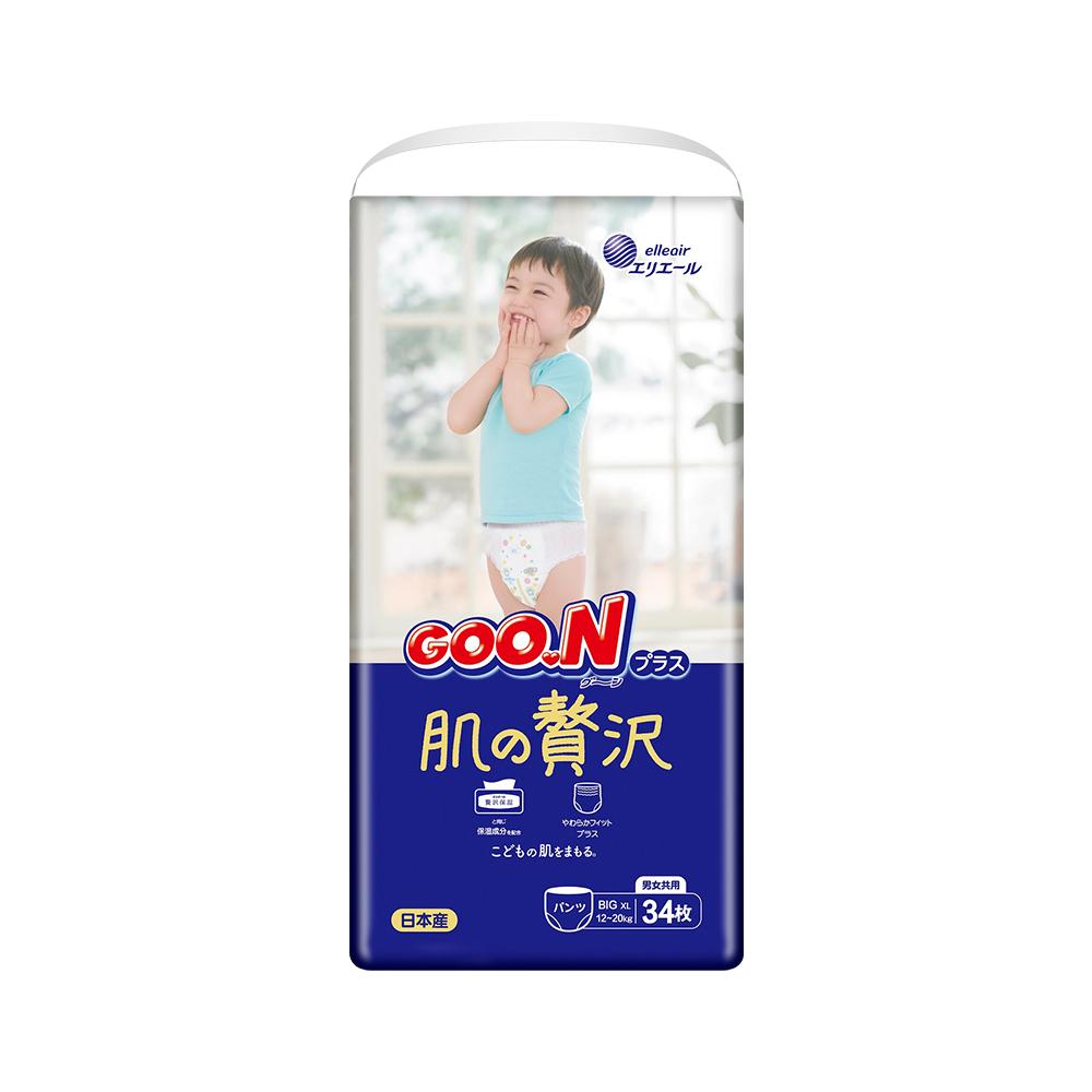 88VIP : GOO.N 大王 奢华肌 婴儿拉拉裤 XL34片 3包