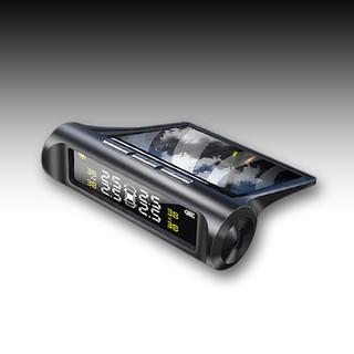 时本 太阳能无线胎压监测器 语音报警 内置外置 太阳能usb双充电