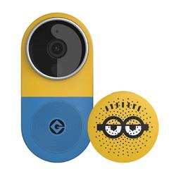 小白 CMDR001W 智能视频门铃套装 小黄人版
