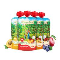 88VIP:GRANDPA'S 爷爷的农场儿童酸奶西梅水果泥120g×4袋*2件+立顿 原味奶茶速溶10包*2件
