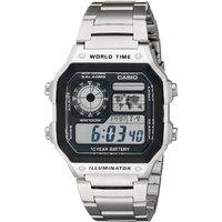 Prime会员:CASIO 卡西欧 AE1200WHD-1A 男士不锈钢数字手表