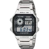 CASIO 卡西欧 AE1200WHD-1A 男士不锈钢数字手表