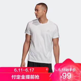 adidas 阿迪达斯 男装跑步运动短袖T恤GC7868