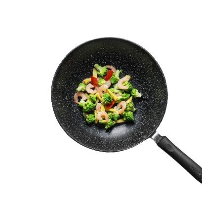SUPOR 苏泊尔 麦饭石色不粘炒锅 30cm