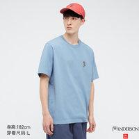UNIQLO 优衣库 440400 刺绣圆领T恤