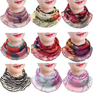 护颈小围脖女防晒脖套夏季薄款挂耳式百变丝巾防紫外线两用面罩
