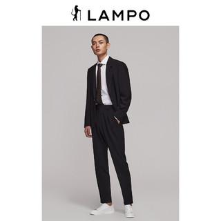 LAMPO 蓝豹 男西服套装上衣黑色微弹商务职业西装外套