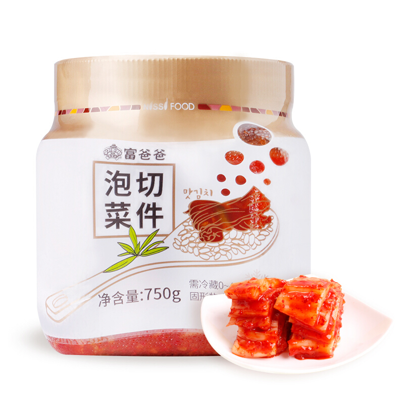 Fubaba 富爸爸 韩国风味辣白菜泡菜 750g