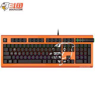 斗鱼(DOUYU.COM)DKM800机械键盘 104键游戏键盘 RGB背光机械键盘 有线吃鸡键盘 橙色红轴