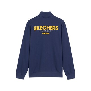 SKECHERS 斯凯奇 春秋新款男子针织外套时尚休闲运动服上衣L420M005