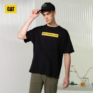 CAT 卡特彼勒 21年新款纯棉面料柔软透气时尚印花简约圆领宽松版男式短袖T恤