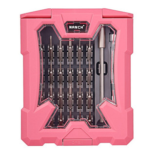 NANCH 南旗 28合1精密螺丝刀组合 粉色版 电脑玩具数码家用电器拆机维修工具