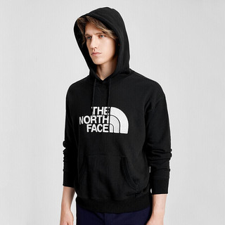 THE NORTH FACE 北面 TheNorthFace北面卫衣经典情侣款户外舒适保暖抓绒连帽卫衣∣4NEQ JK3/黑色 XL