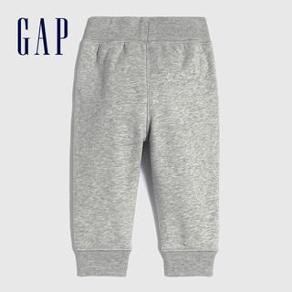 Gap 盖璞 婴儿法式圈织软卫裤690716 2021春夏新款洋气童装束脚运动裤