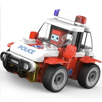 布鲁可 交通工具系列  61206 布布百变警车E3