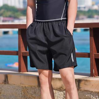 PEAK 匹克 运动裤男修身游泳健身裤跑步休闲羽毛球五分裤