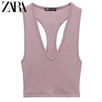 ZARA 00962332620 女装罗纹短款上衣