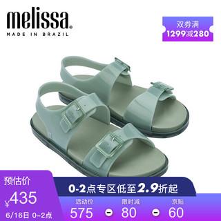 melissa Melissa梅丽莎21春夏时尚可调节搭扣绑带平底女士凉鞋32945 绿色 37码