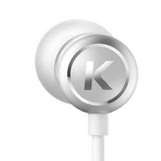 KUGOU 酷狗 M1L 入耳式动圈有线耳机 月光银 3.5mm