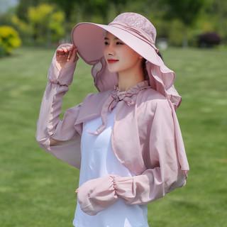 大沿遮阳帽女夏季户外防晒遮脸凉帽百搭防紫外线骑车出游太阳帽子