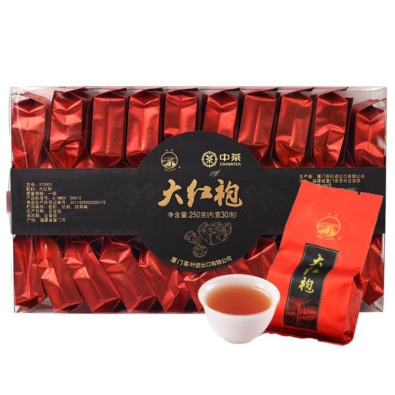 SEA DYKE 海堤 中茶 海堤茶叶 岩茶 大红袍 茶叶 乌龙茶浓香型中足火 250克\/盒