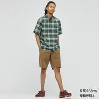 UNIQLO 优衣库 438132 男士长绒棉衬衫