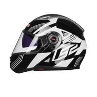 LS2 摩托车头盔 FF370 黑灰竞速