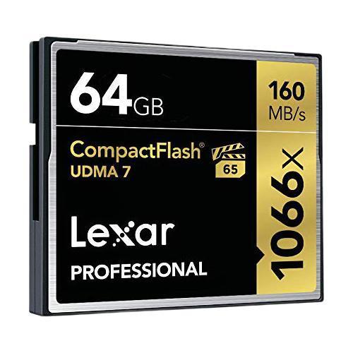 Lexar 雷克沙 LCF64GCRBNA1066 CF存储卡 64GB (160MB/s)