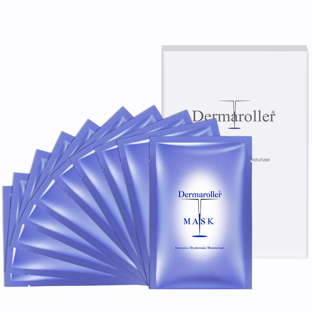 Dermaroller 玻尿酸原液胶原蛋白蚕丝面膜 10片