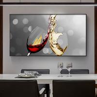现代简约餐厅装饰画轻奢酒杯饭厅餐边柜厨房挂画客厅沙发背景墙画