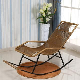 檀星星 藤椅子睡椅躺椅老人家用折叠靠背椅午休摇摇椅休闲阳台沙滩逍遥椅