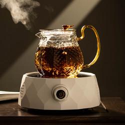 cipaiming teaset 瓷牌茗茶具 电陶炉煮茶茶具套装家用玻璃泡茶壶煮茶壶小型花茶壶煮茶炉煮茶器