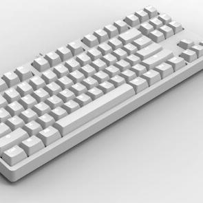 GANSS 迦斯 高斯 GS87D 双模机械键盘 cherry轴 白光版 白色
