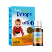 Ddrops 加拿大ddrops维生素D3滴剂0-1岁婴儿液体补钙2.5ML90滴*2瓶宝宝