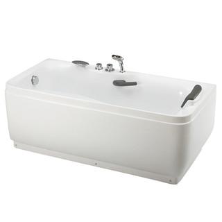 HUIDA 惠达 亚克力浴缸家用成人小户型带下水洗澡HD102 右裙边(左枕右下水