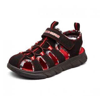 SKECHERS 斯凯奇 夏季男童鞋镂空透气舒适凉鞋儿童运动休闲鞋