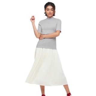 UNIQLO 优衣库 女士高领五分袖T恤 433576
