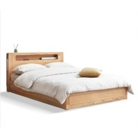 YESWOOD 源氏木语 Y90B16 现代简约全实木箱体床 1.2m
