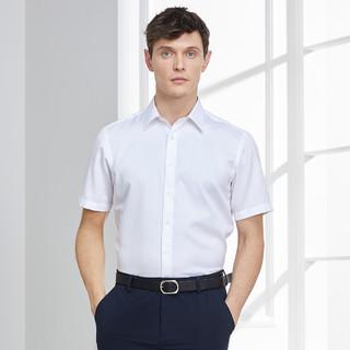 YOUNGOR 雅戈尔 CEO系列春夏DP免烫新疆长绒棉百搭男士短袖衬衫男士衬衫男
