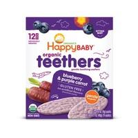 88VIP:HappyBABY 禧贝 宝宝有机磨牙饼干 蓝莓紫胡萝卜味 48g