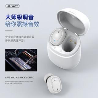 JOWAY 蓝牙耳机真无线 TWS蓝牙运动耳机商务 3D音乐音效 超迷你入耳式 5级防水 降噪重低音 典雅黑色