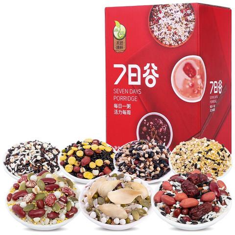 京东PLUS会员:HE YU 禾煜 7日谷 五谷杂粮粥料组合 年货礼盒(八宝粥)756g