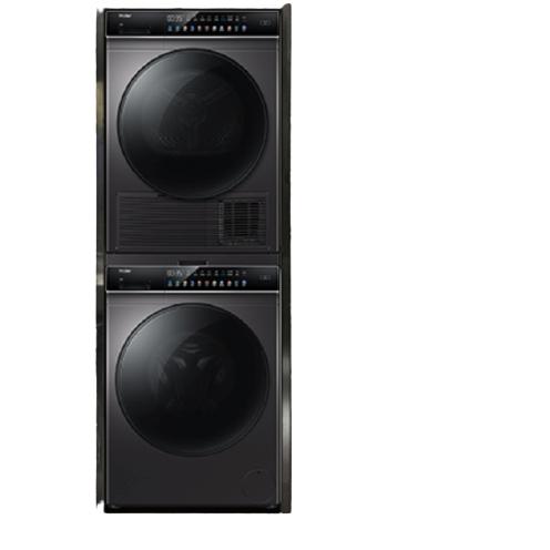 Haier 海尔 晶彩系列 GBN100-189U1+EG100BDC189SU1 洗烘套装 滚筒洗衣机10kg+热泵烘干机10kg 银色